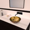 Vigo Glass Vessel Bathroom Sink with Titus Wall Mount Faucet