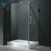 <strong>Vigo</strong> Acrylic Pivot Door Glass Frameless Shower Enclosure with Base