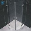 Vigo Neo-Angle Round Double Door Frameless Shower Enclosure