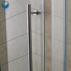 Vigo Sliding Door Frameless Shower Enclosure with Base