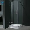 <strong>Vigo</strong> Pivot Door Frameless Shower Enclosure with Base