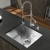"""<strong>Vigo</strong> Platinum 23"""" x 18"""" All in One Undermount Kitchen Sink with Faucet"""
