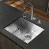 "<strong>Vigo</strong> Platinum 23"" x 18"" All in One Undermount Kitchen Sink with Faucet"