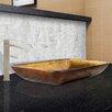 Vigo Rectangular Glass Vessel Bathroom Sink and Duris Faucet Set