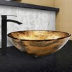 Vigo Copper Shapes Glass Vessel Bathroom Sink and Duris Faucet Set
