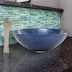 Vigo Eclipse Glass Vessel Bathroom Sink and Blackstonian Faucet Set