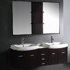 """Vigo Contemporary 59"""" Bathroom Vanity Set with Double Sink"""