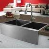 """<strong>Vigo</strong> 33"""" x 22.25"""" Double Bowl Farmhouse Kitchen Sink"""