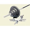 USA Sports by Troy Barbell 160 lbs Standard threaded weight set in Gray