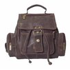 Mid-Size Top Handle Backpack in Distressed Leather