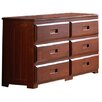 Discovery World Furniture Weston 6-Drawer Dresser