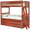 <strong>Convertible Twin over Twin Six Drawer Bunk Bed</strong> by Discovery World Furniture