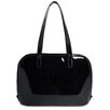 Jack Georges Patent Leather Large 3-Way-Zip Laptop Tote Bag