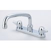 "<strong>Central Brass</strong> Double Handle Centerset Kitchen Faucet with 6"" Centers"