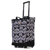 <strong>Fashion Damask Rolling Shopping Tote</strong> by Olympia