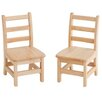 ECR4kids 3 Rung Ladderback Chair (Set of 2)