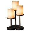 "<strong>Justice Design Group</strong> CandleAria Dakota Portable 16"" H Table Lamp with Drum Shade (Set of 3)"
