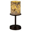 "<strong>Alabaster Rocks Dakota 12"" H 1 Light Portable Table Lamp</strong> by Justice Design Group"