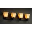Justice Design Group CandleAria Modular 4 Light Bath Vanity Light