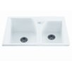 "Reliance Whirlpools Reliance 33.25"" x 21.75"" Discovery Double Bowl Kitchen Sink"