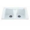 "Reliance Whirlpools Reliance 33"" x 22"" Colonial Double Bowl Kitchen Sink"