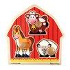 Melissa and Doug Barnyard Animals Jumbo Wooden Knob Puzzle