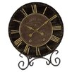 <strong>Black & Gold Table Clock</strong> by Infinity Instruments