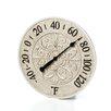 "Infinity Instruments 15"" Le Blanc Fleur Wall Clock"