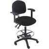 Mid-Back Tall Industrial Office Chair with Fix Arm and Adjustable Seat Angle