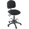 <strong>Bench Pro</strong> Mid-Back Tall Industrial Office Chair with Adjustable Seat Angle