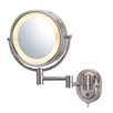 Jerdon Lighted 5X Magnifying Hard-Wired Wall Mirror