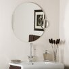 Decor Wonderland Frameless Wall Mirror with Magnification