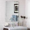 Decor Wonderland Frameless Tri Bevel Wall Mirror