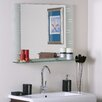 <strong>Frameless Aydin Wall Mirror with Shelf</strong> by Decor Wonderland