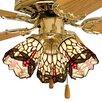 """Meyda Tiffany 4"""" Tiffany Bell Ceiling Fan Fitter Shade"""