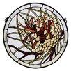 Meyda Tiffany Pinecone Medallion Stained Glass Window