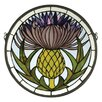 <strong>Meyda Tiffany</strong> Tiffany Thistle Medallion Stained Glass Window