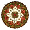 <strong>Meyda Tiffany</strong> Tiffany Nouveau Colonial Tulip Medallion Stained Glass Window