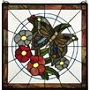 <strong>Meyda Tiffany</strong> Butterfly Lodge Floral Insects Stained Glass Window