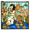 <strong>Meyda Tiffany</strong> Tiffany Floral Animals Nouveau Insects Fairy Pond Stained Glass Window