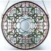 <strong>Meyda Tiffany</strong> Tulip Bevel Medallion Stained Glass Window