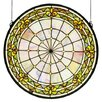 Meyda Tiffany Victorian Fleur-De-Lis Medallion Stained Glass Window