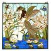 Meyda Tiffany Victorian Fairy Pond Stained Glass Window