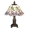 "Meyda Tiffany Tiffany Floral Nouveau Daffodil 11.5"" H Mini Table Lamp with Bell Shade"