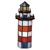 "<strong>Meyda Tiffany</strong> Nautical Hilton Head Lighthouse 10"" H Table Lamp"