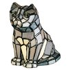 "<strong>Meyda Tiffany</strong> Tiffany Cat 7"" H Table Lamp"