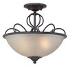 <strong>Designers Fountain</strong> Tangier 2 Light Semi-Flush Mount