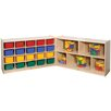 Steffy Wood Products Fold and Lock Mobile 20 Compartment Cubby