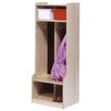 <strong>Two Section Locker with Seat/Step</strong> by Steffy Wood Products