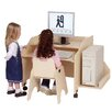 "Steffy Wood Products 29"" W Mobile Computer Station with Keyboard Shelf"